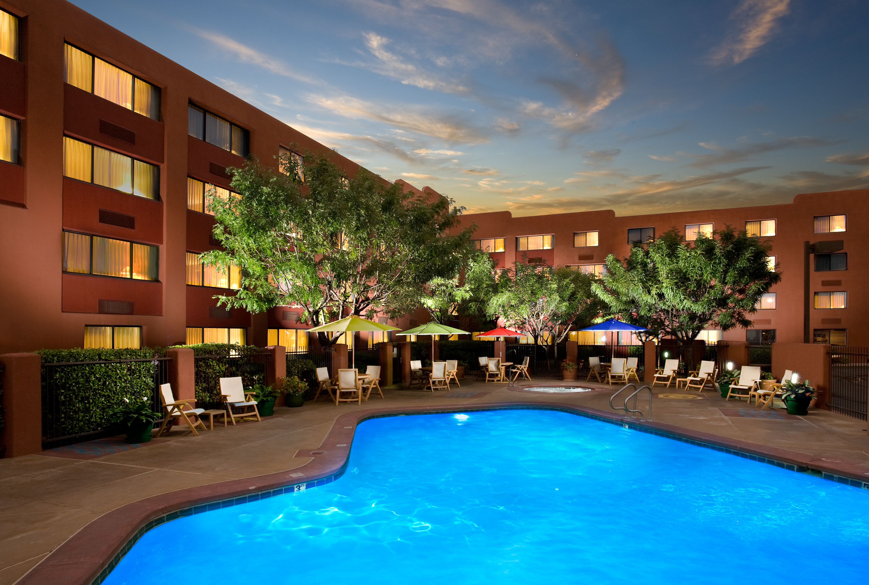 Our outdoor pool is the perfect place to rejuvenate after a day of exploring Historic Old Town Plaza.